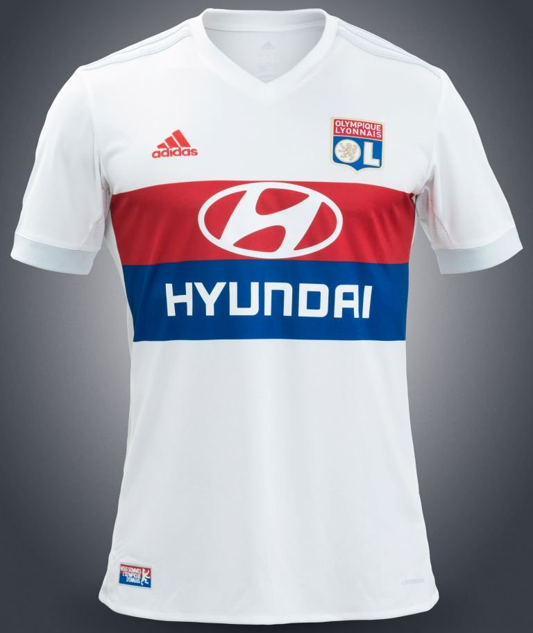 Maillot OL home 2017 2018 Adidas