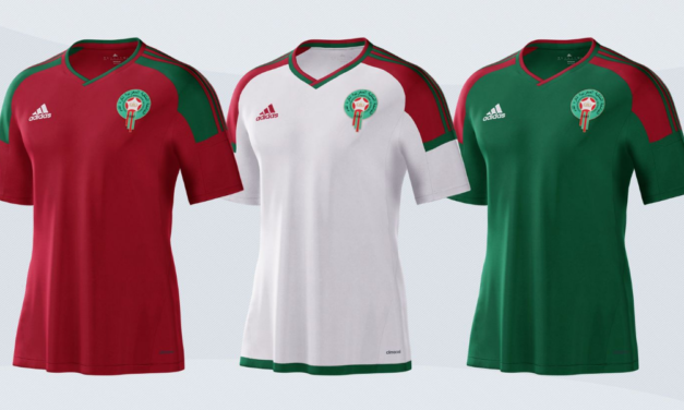 Les nouveaux maillots de foot du Maroc CAN 2017