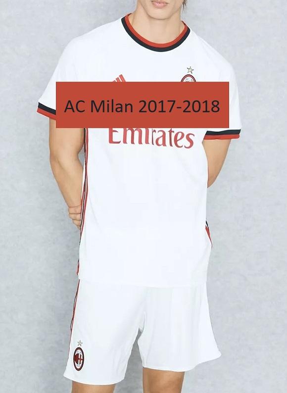 Milan AC 2018 maillot exterieur football 17 18
