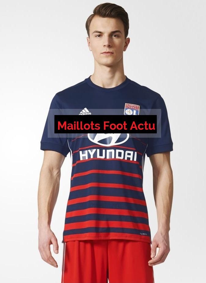 OL 2018 maillot exterieur foot Lyon 2017 2018 Adidas