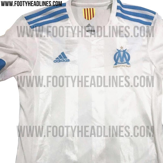 OM 17 18 maillot domicile foot blanc Adidas
