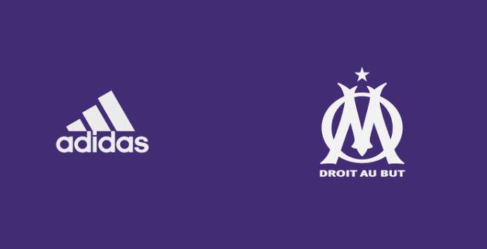 OM 2018 troisième maillot third football Adidas violet