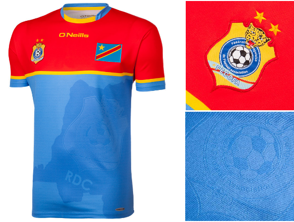 RD Congo CAN 2017 maillot domicile