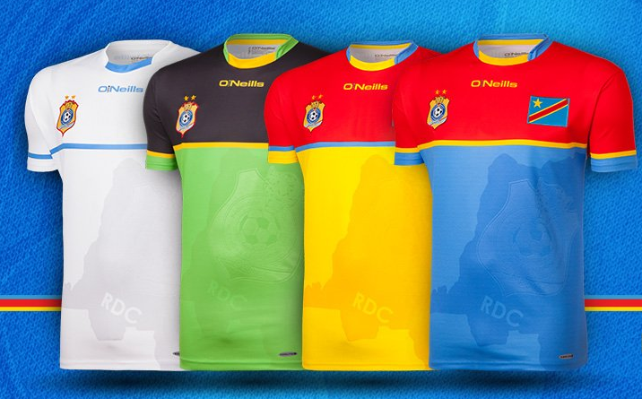RD Congo CAN 2017 maillots de football