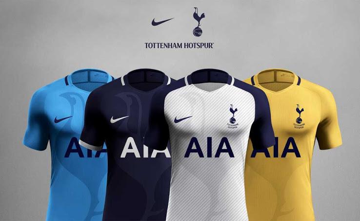 Tottenham 2017 2018 maillots de football supposition