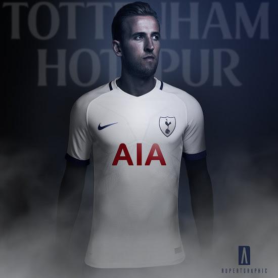 Tottenham 2017 possible maillot domicile Nike