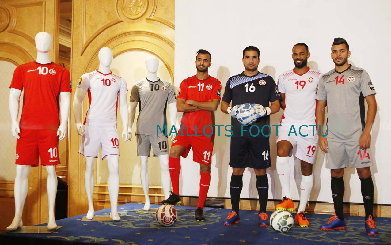 Tunisie 2017 maillots de foot CAN 2017