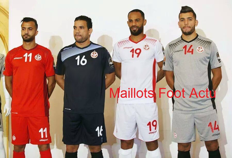 Tunisie CAN 2017 maillots de football