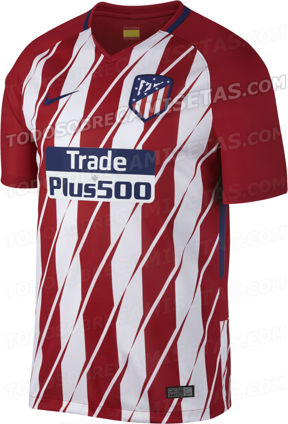 atletico madrid 2017 2018 maillot domicile maillots foot actu. Black Bedroom Furniture Sets. Home Design Ideas