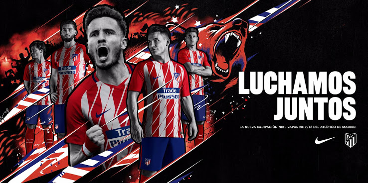 Atletico Madrid 2018 maillot domicile officiel 17 18