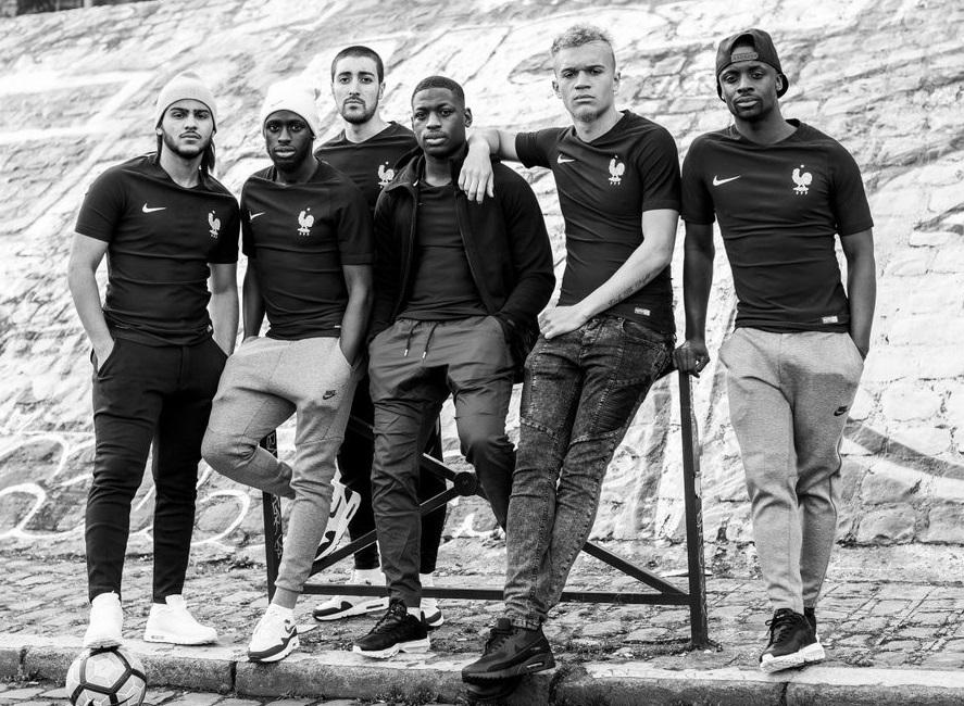 France 2017 troisième maillot de foot noir Nike