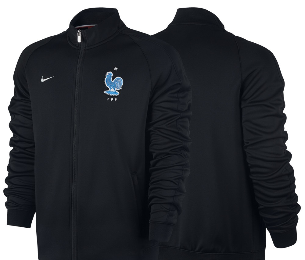 Veste de football noire France 2017