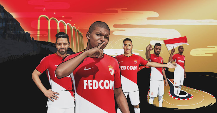AS Monaco 2018 nouveaux maillots de football
