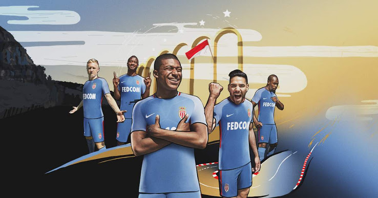 AS Monaco 2018 maillot exterieur officiel Nike