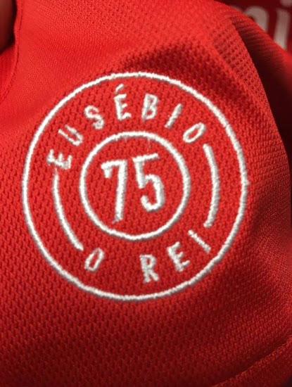 Benfica 17 18 maillot hommage Eusebio
