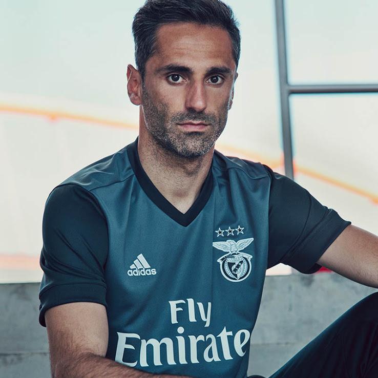 Benfica 2018 maillot de football extérieur gris