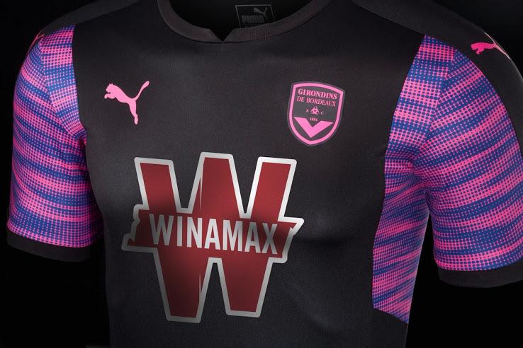 Bordeaux 2018 troisieme maillot de foot third noir