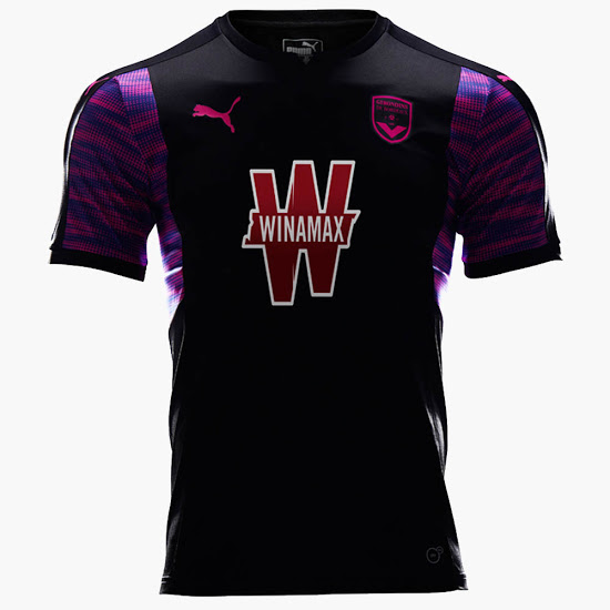 Bordeaux 2018 troisieme maillot third football 17 18