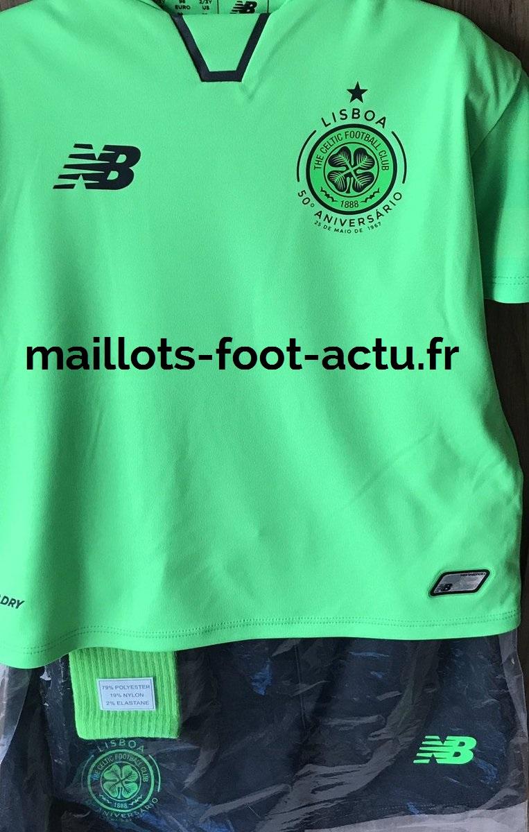Celtic 2018 trosieme maillot third 17 18 vert fluo
