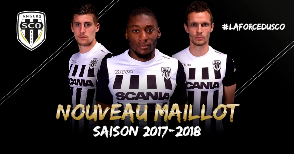 SCO Angers 2018 maillot football domicile 17 18