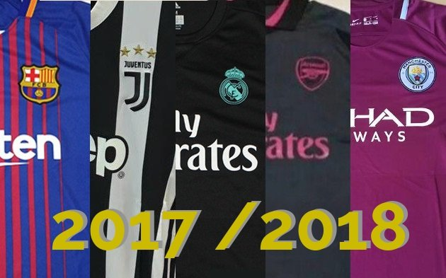 maillots de football 2017 2018 des grands clubs
