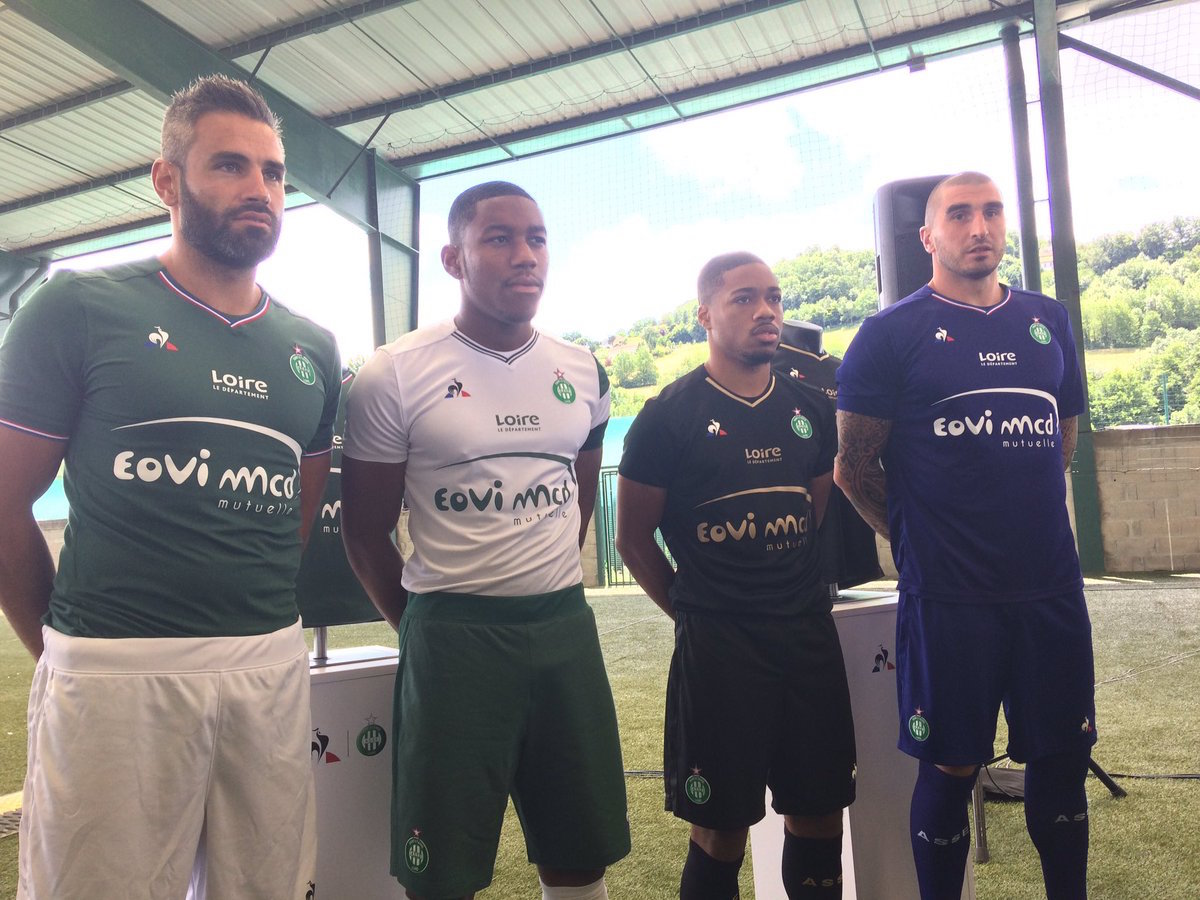 AS Saint Etienne 2017 2018 maillots de football ASSE 2018