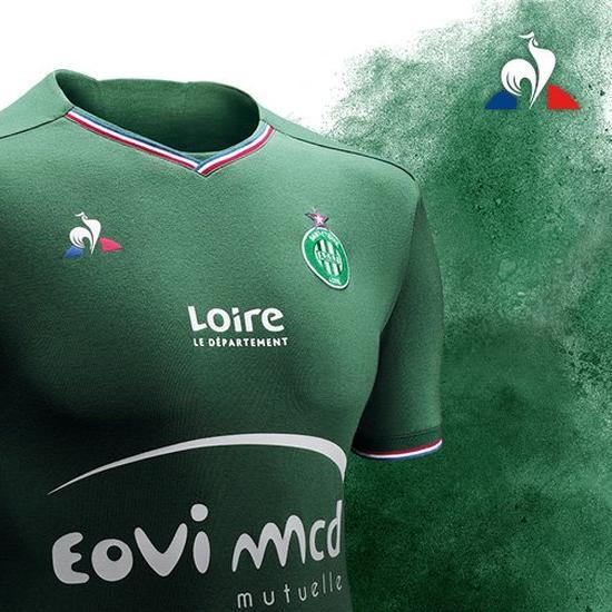 ASSE 2017 2018 maillot de football Coq Sportif vert