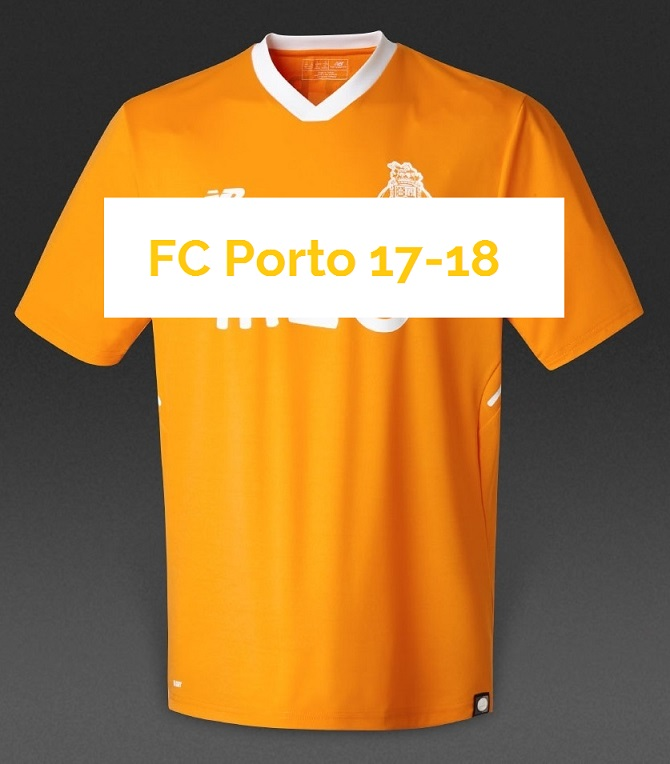 FC Porto 2018 maillot extérieur orange football 17 18