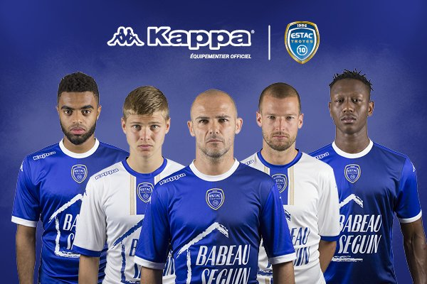 ESTAC 2018 maillots de football Troyes