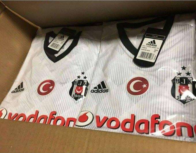 Besiktas 2018 maillot domicile football blanc Adidas fuite