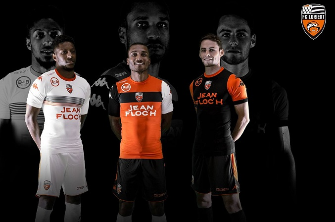 FC Lorient 2018 maillot de football officiels