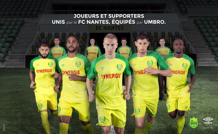 FC Nantes 2018 maillot de foot domicile