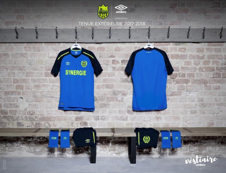 FC Nantes 2018 maillot exterieur bleu 17 18