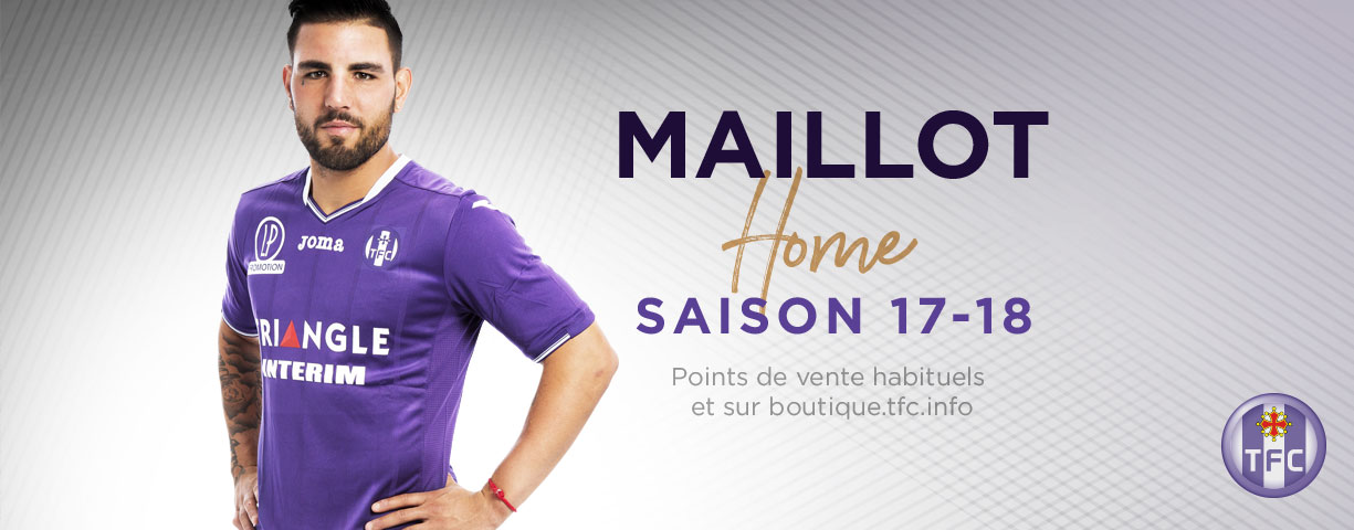 FC Toulouse 2018 nouveau maillot domicile violet