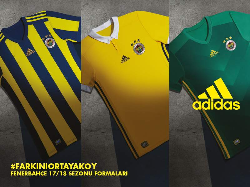 Fenerbahce 2017 2018 maillots de football Adidas officiels