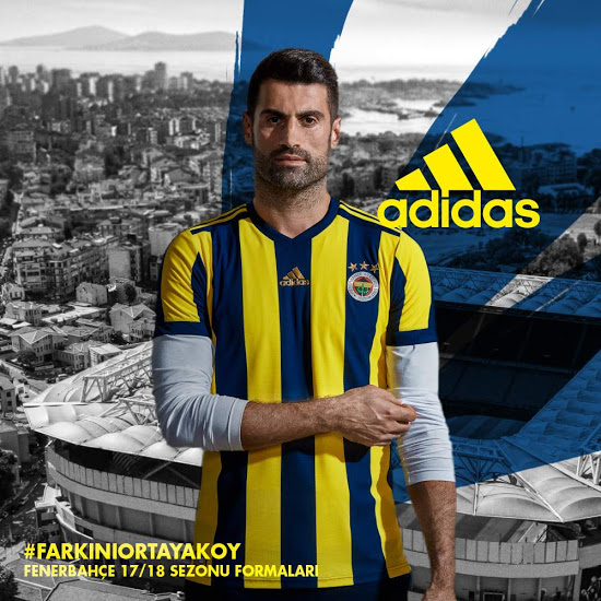 Fenerbahce 2018 maillot domicile officiel Adidas