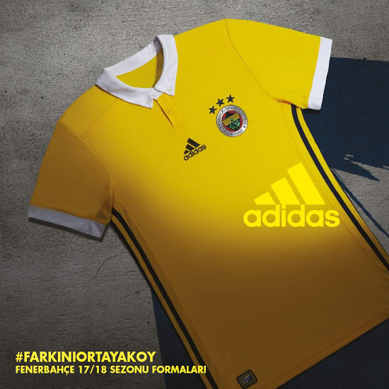 Fenerbahce 2018 maillot exterieur jaune foot