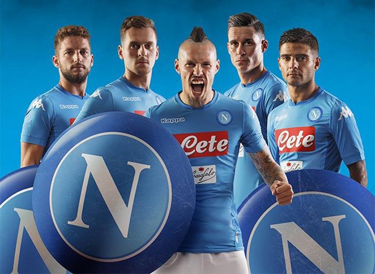 Naples 2018 maillot domicile officiel football