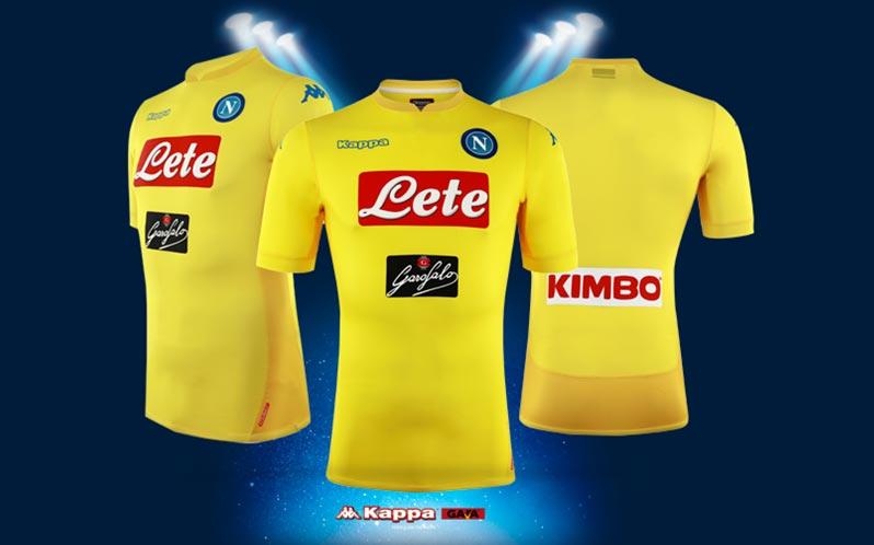Naples 2018 maillot exterieur jaune Kappa