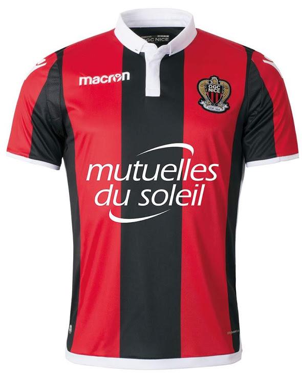 OGC Nice 20118 maillot de foot domicile