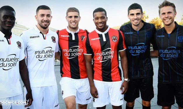 Les nouveaux maillot de foot OGC Nice 2018