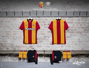 RC Lens 2018 maillot domicile 17 18 Umbro