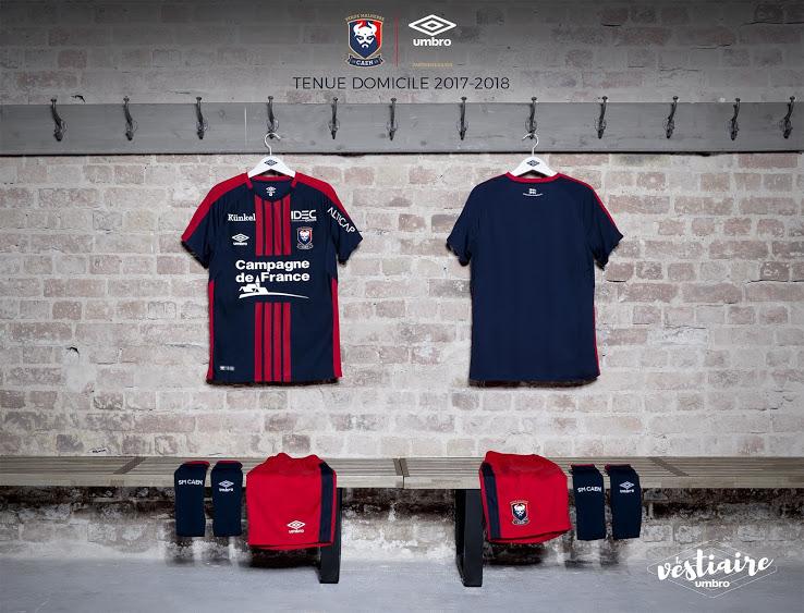 SM Caen 2018 maillot domicile football 17 18