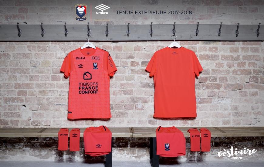 SM Caen 2018 maillot exterieur orange officiel 2017 2018