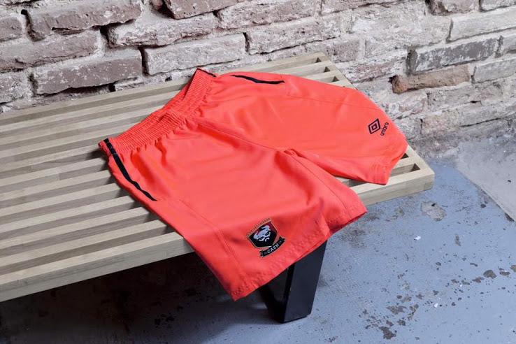 SM caen 17 18 short de foot exterieur orange