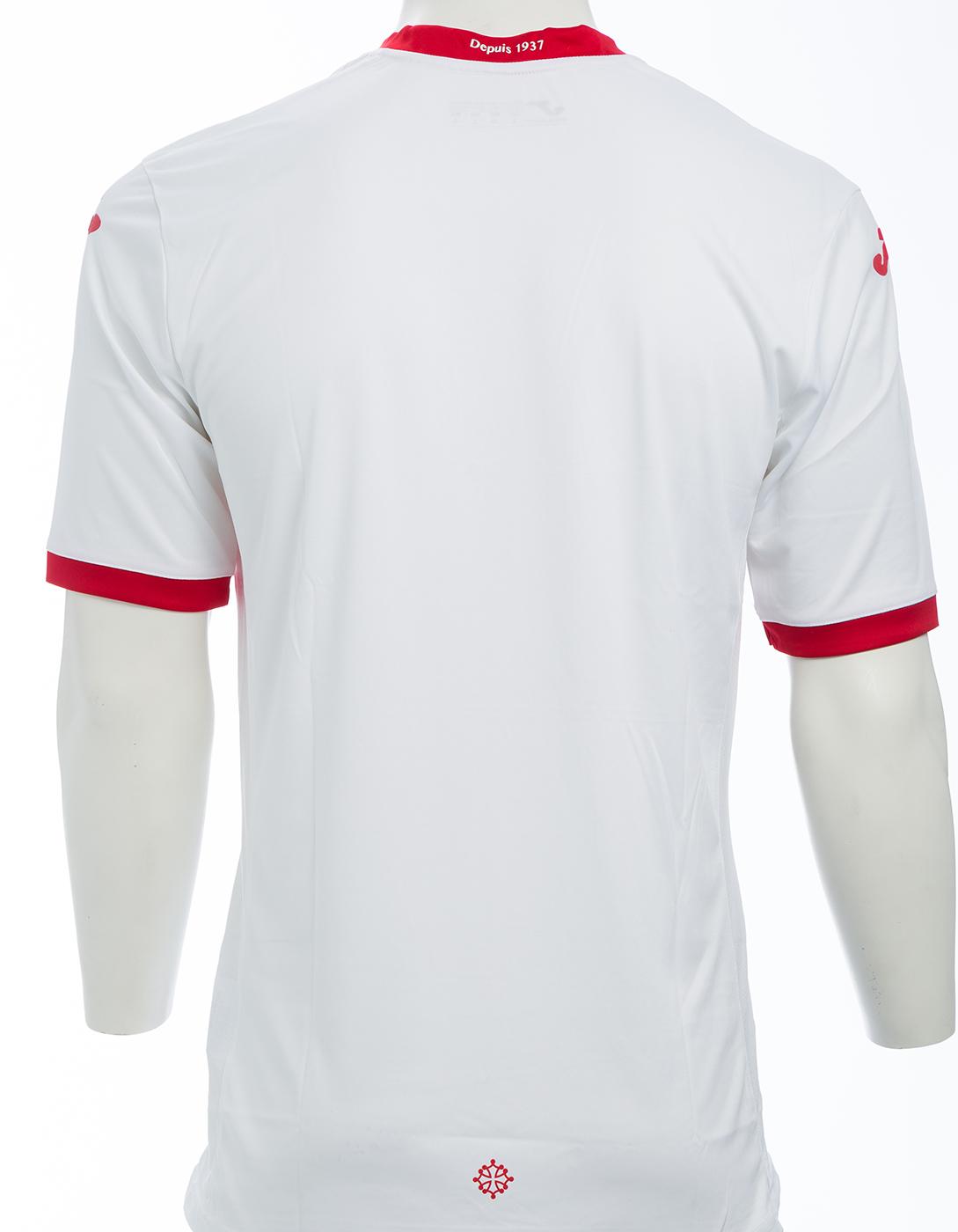 Toulouse 2018 dos du maillot exterieur blanc Joma