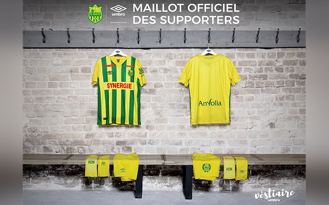 maillot football fc nantes umbro maillot supporters