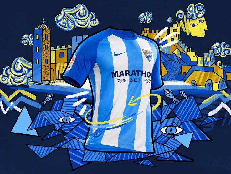 Malaga 2018 maillot domicile foot 17 18