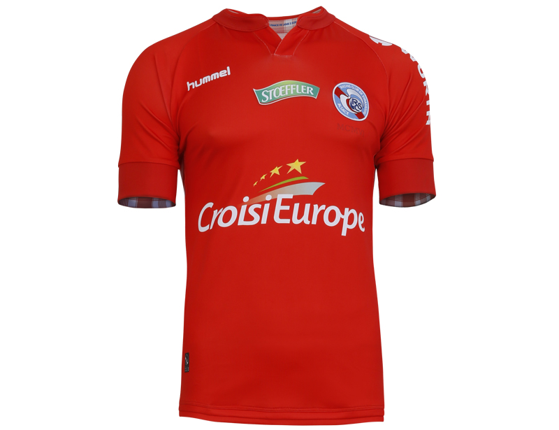 RC Strasbourg 2018 maillot foot third rouge