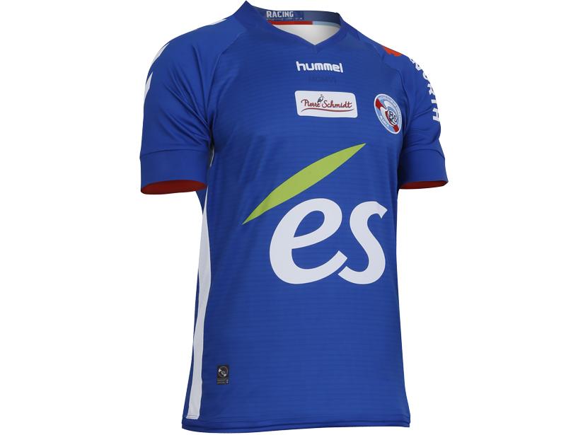 RC Strasbourg 2018 maillot football domicile bleu